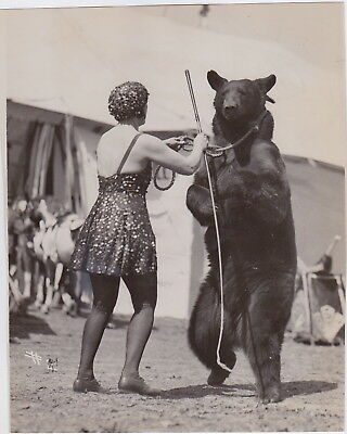 H.A. ATWELL: A DANCING BEAR in the CIRCUS * RARE Iconic VINTAGE 1940 Press Photo