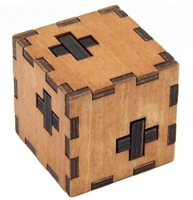 Swiss Cube Wooden Box Puzzle Brain Teaser Puzzles IQ Wood Educational Puzzles