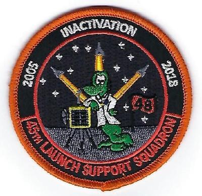 45th LAUNCH SUPPORT SQUADRON (LCSS) INACTIVATION PATCH 2005 - 2018 NIGHT GATORS