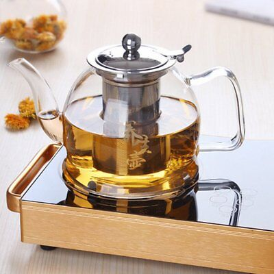 Electromagnetic Transparent Clear Borosilicate Glass Teapot With Infuser~US