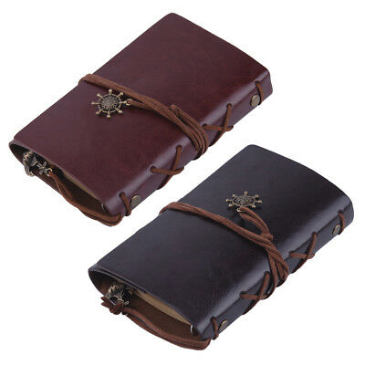 Vintage Style Classic Retro Leather Cover Journal Travel Notepad Notebook Blank