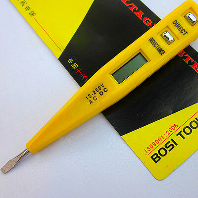 1× LCD Digital AC/DC Voltage Detector Continuity Tester Pen 12-240V ABC CN