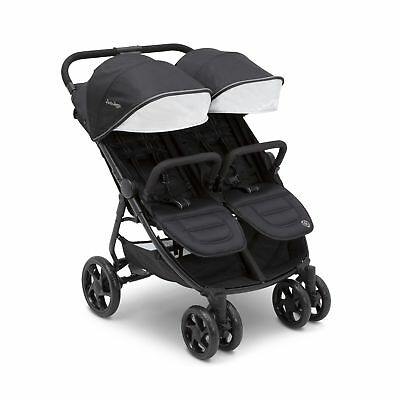 J is for Jeep Brand Destination Ultralight Side x Side Double Stroller, Midni...