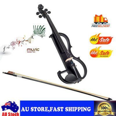 New Universal 4/4 Full Size Violin Electric Violin Student Fiddle Case Bow Set