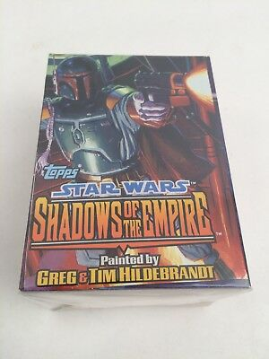 STAR WARS SHADOWS OF THE EMPIRE 1996 TOPPS COMPLETE BASE Trading CARD SET OF 100