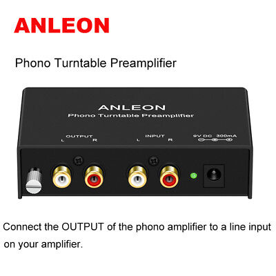 ANLEON Mini Stereo Phono Turntable Preamp Preamplifier Crosley Jensen Amplifier