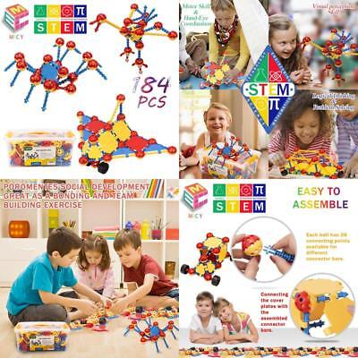 Stem Learning Toys | Creative Construction Engineering | Original 184 Piece Educ