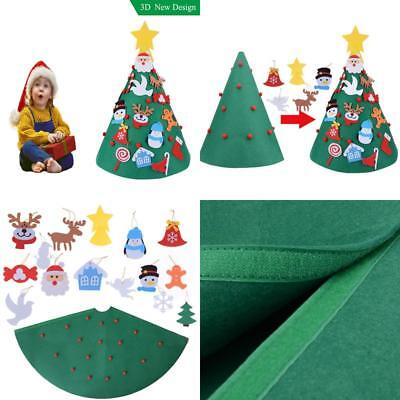 3D Diy Felt Christmas Tree Upgraded Toddler Christmas Tree Hanging Ornaments Kid