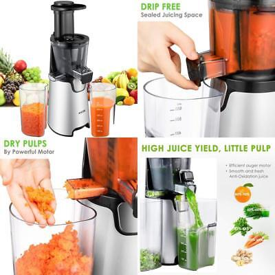 Aicok Juicer Auger Slow Masticating Juicer For Fruit And Vegetable, Vertical Fas