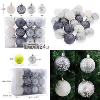 "Auxo-Fun 2.36""/60Mm Shatterproof Christmas Ball Ornaments Tree Decoration Bauble"