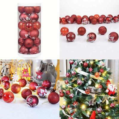 "Christmasexp 24Ct 60Mm/2.36"" Christmas Ball Ornaments Shatterproof Painting  Gl"