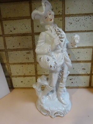 European style Porcelain figurine.White Gentleman  with sword.