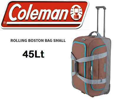 COLEMAN DUFFLE BAG WITH WHEELS  45Lt  - Brown - rrp $ 99.95