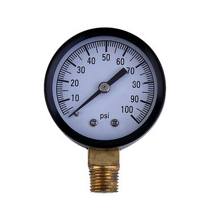 """Simmons 1305 0-100 PSI 1/4"""" Well Pump Water Pressure Gauge TS50-100PSI HT UO"""