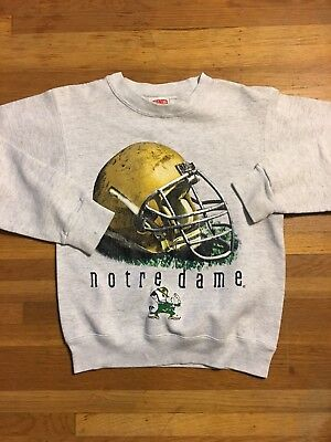 VINTAGE NUTMEG Sz M UNIVERSITY OF NOTRE DAME FIGHTING IRISH SWEATSHIRT CREWNECK