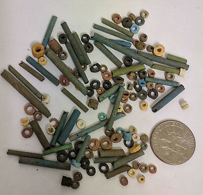 More than a Hundred 2500 Year old Ancient Egyptian Faience Mummy Beads (K1517)