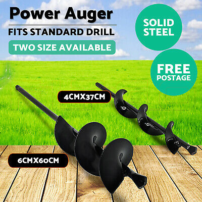 Power Garden Auger Small Earth Planter Drill Bit Post Hole Digger 37CM/57CM OZ