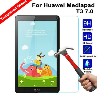 Genuine Full 9H Tempered Glass Screen Protector Film For Huawei Mediapad T3 7.0