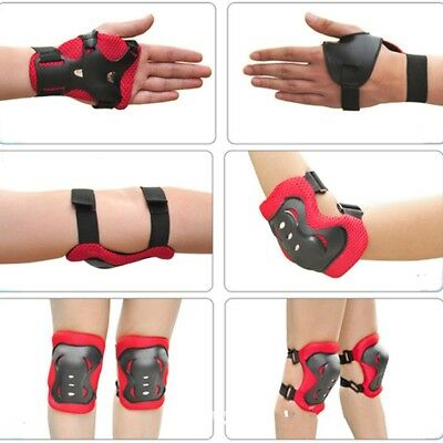 6pcs/set Skating Protective Gear Sets Elbow Knee Pads Wrist Protector for Kids