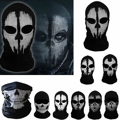 NEW Skeleton Ghost Skull Face Mask Biker Balaclava Call Of Duty COD Costume Game