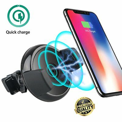 Qi Wireless Charger Holder Car Air Vent Mount Dock For Smart Phone Charging WE