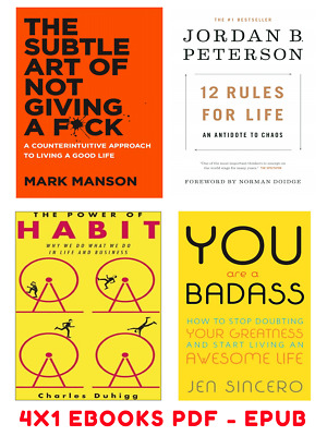 The Subtle Art +The Power of Habit +You Are a Badass+12 Rules for Life 4x1 EB00K