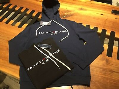 Sweat-shirt À Capuche Pull Homme Men Tommy Hilfiger Neuf Taille Size XXL  Black 21756ab82ade