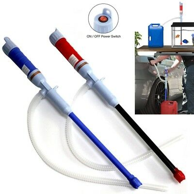 Fuel Syphon Pump Electric Liquid Gas Oil Water Battery Powered Transfer Supply