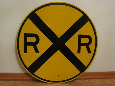 VINTAGE AUTHENTIC RAIL Road Crossing Sign 36