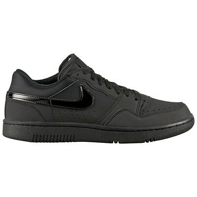 new style f800b c2809 Nike Court Force Low Noir Cuir Baskets  Chaussures Homme Baskets Retro Air  1