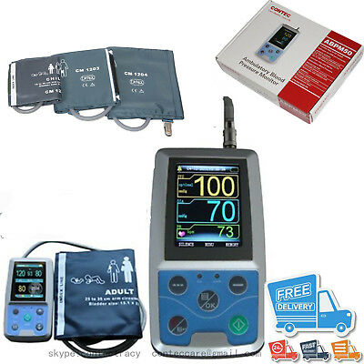 FDA 24Hr ABPM50 Ambulatory Blood Pressure Monitor,PC SW+Child,adult,large adult