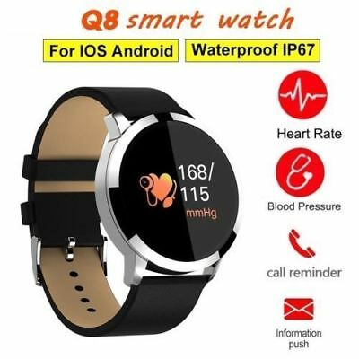 Cardiofrequenzimetro Tracker Bt Orologio Smartwatch Fitness Sport Q8 Android Ios