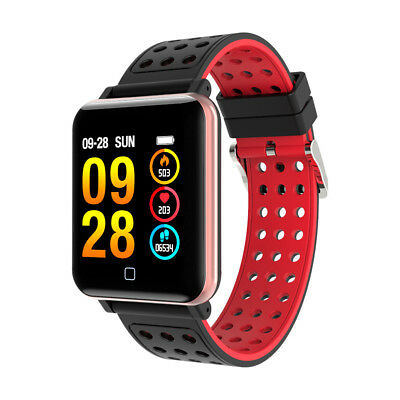 CARDIOFREQUENZIMETRO TRACKER OROLOGIO SMARTWATCH FITNESS BAND PER ANDROID iOS DL