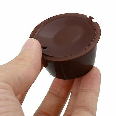 1*Brown Refillable Coffee Capsules Pods K-cups For Nescafe Dolce Gusto Reusable