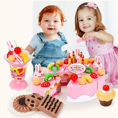 Wooden Baby Kitchen Toys Pretend Play Cutting Cake Play Food Kids Toys MU