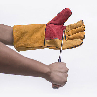 2 Pcs Heat Insulation Electric Welding Gloves Cut-resistant Thorn-Proof Mittens