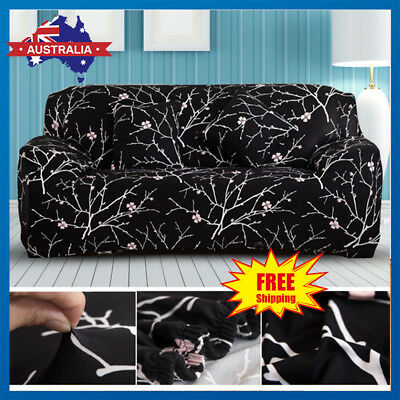 Floral Stretch Couch Sofa Lounge Recliner Cover Slipcover Protector 1/2/3 Seater