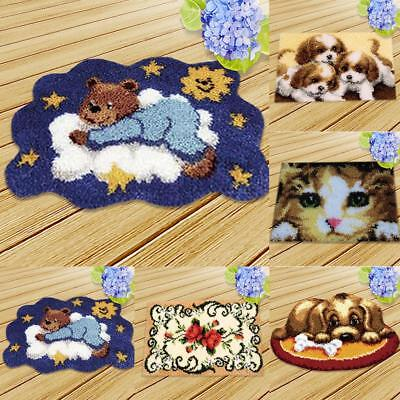 Latch Hook Kit Embroidery Needlework Supplies for Rug Pillow Mat Cushion 50x36cm