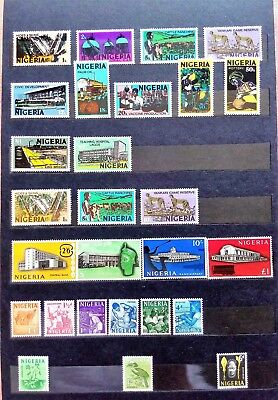 NIGERIA Small collection MNH Definitives 1973/1986 + Miner Potter Train Set 1961