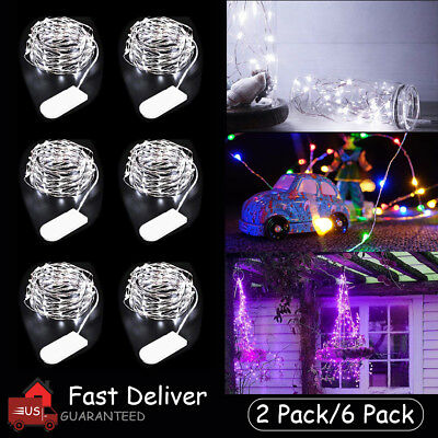 2M LED MICRO Copper Wire Waterproof String Fairy Lights Multi Color