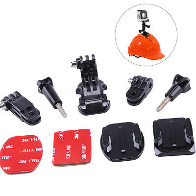 Helmet Mounting Front Side Kit with Curved and Flat mount for Gopro HD 2 3 3+ 4