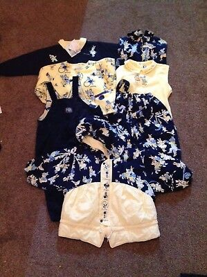 Jean Bourget French Designer Girls/boys 7 Piece Clothing Set Age 12-18 Months