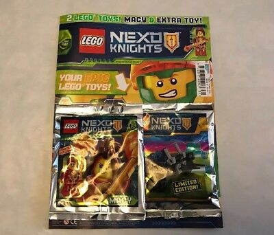Lego Nexo Knights Issue 31 New With 2 Limited Edition Figures