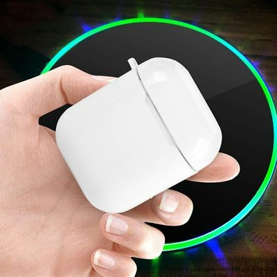 Portable Qi Wireless Charger Receiver Charging Case Box Cover For Apple Airpods