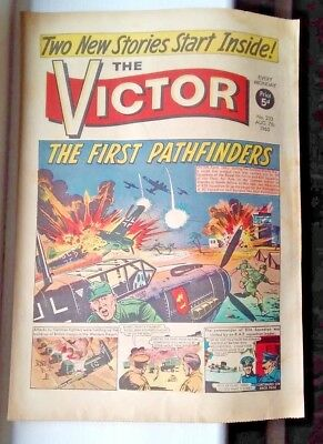 """victor  "" Comic 7Th Aug1965 Classic Vintage Uk Comic Great For Comic Strips!!"