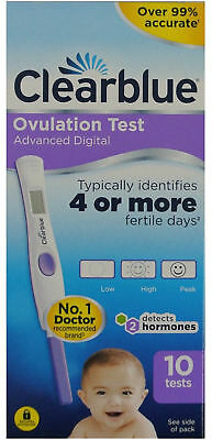 Details about  CLEARBLUE Advanced Digital Ovulation Test With Dual Hormone Indic