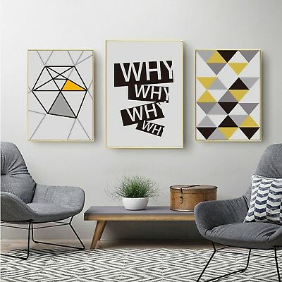 Abstract Art Geometric designs Canvas Poster Fabric Paint Decor No Frame S289