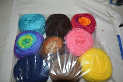 Lot of Southern Belle Mill End Yarn 15oz Assorted Center Pull Balls 4 Ply Acryl