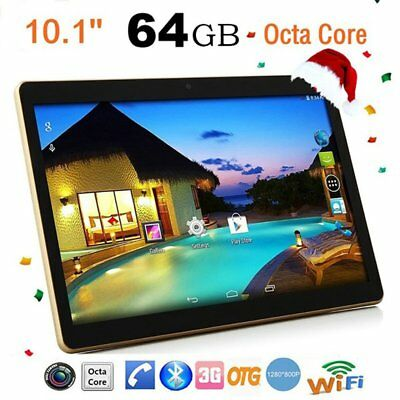 "10.1'' Tablet PC Android 6.0 64GB Octa Core 10"" Inch HD WIFI 4G 2 SIM Phablet GB"