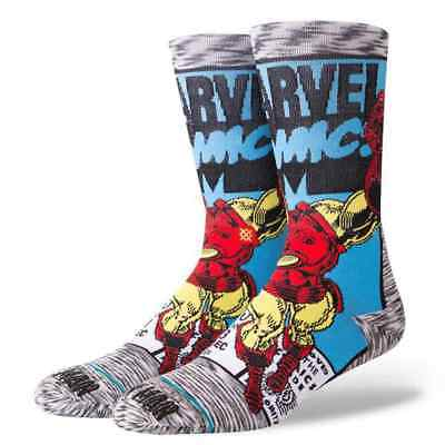Stance Marvel Iron Man Comic Everyday Light Cushion  Chaussettes Gris Homme
